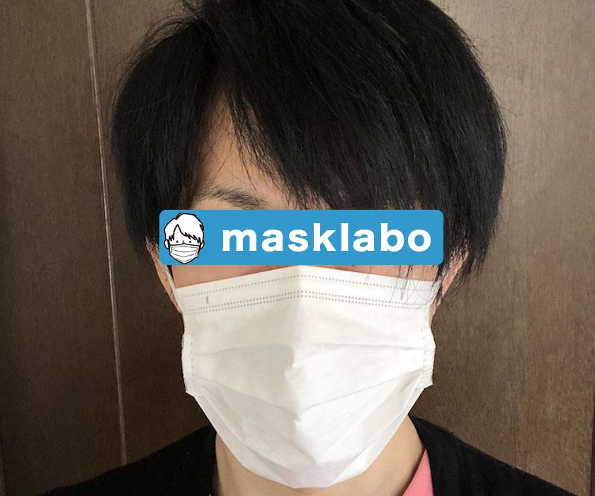 7枚入り快適さわやか使い捨てマスクを着用する